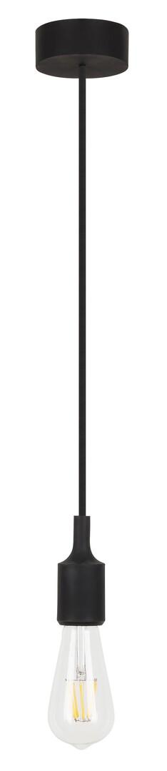 Rábalux 1412 Roxy, függeszték vasalókábellel és szilikon részekkel, fekete E27 MAX 40W fekete