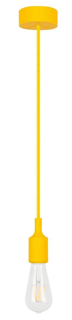 Rábalux 1413 Roxy, függeszték vasalókábellel és szilikon részekkel, sárga E27 MAX 40W sárga