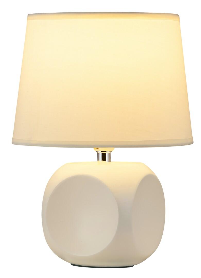 Rábalux 4395 Sienna, kerámia asztali lámpa E14 MAX 40W krém