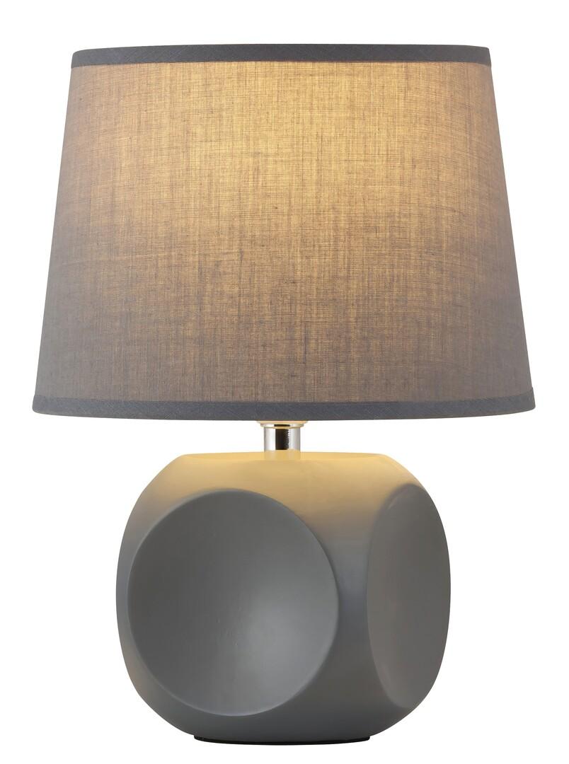Rábalux 4396 Sienna, kerámia asztali lámpa E14 MAX 40W szürke